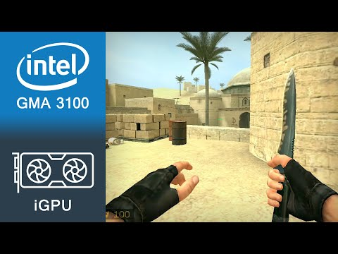 Counter-Strike Source Gameplay Intel GMA 3100
