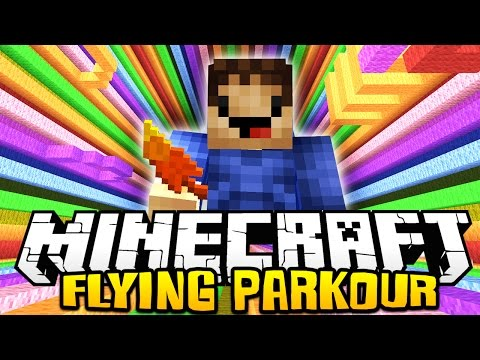 MINECRAFT BRAND NEW FLYING PARKOUR! w/ MrWoofless