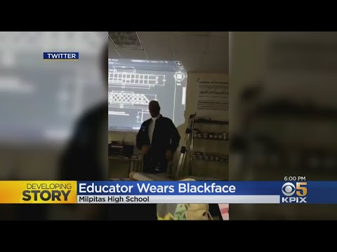 A teacher wore blackface to school while dressing up as Common. He's been suspended.
