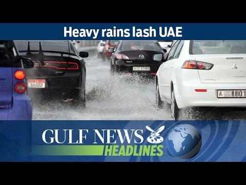 Heavy rains lash UAE - GN Headlines