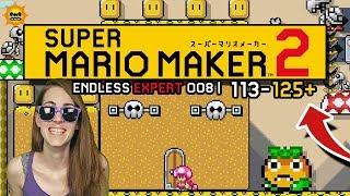 FUN UNDER THE SUN! ENDLESS EXPERT 008 | 113-125+// SUPER MARIO MAKER 2