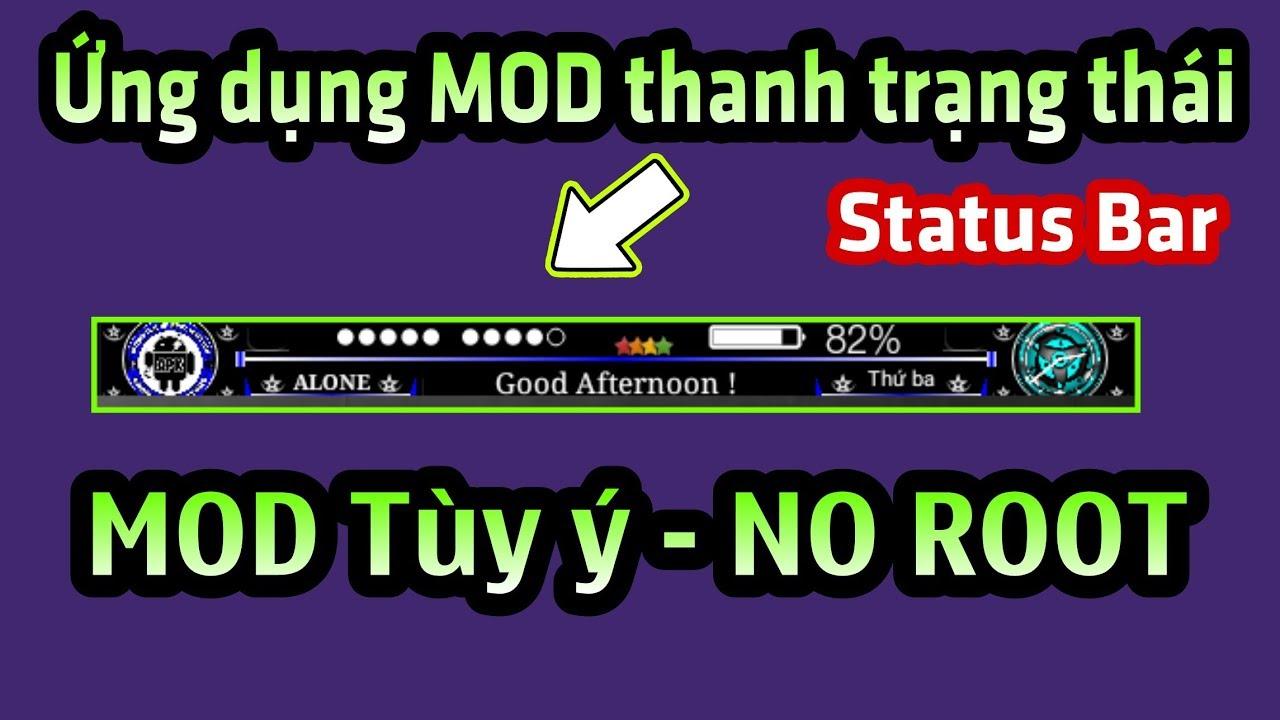 Ứng dụng MOD thanh trạng thái (Stt3) siêu đẹp và MOD theo ý thích cho mọi Android – NO ROOT