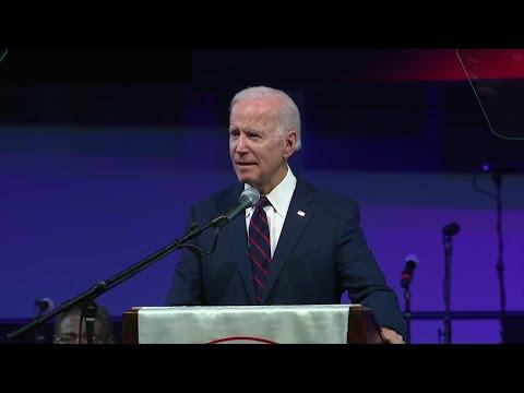 Biden to black church group: Trump fanning hate