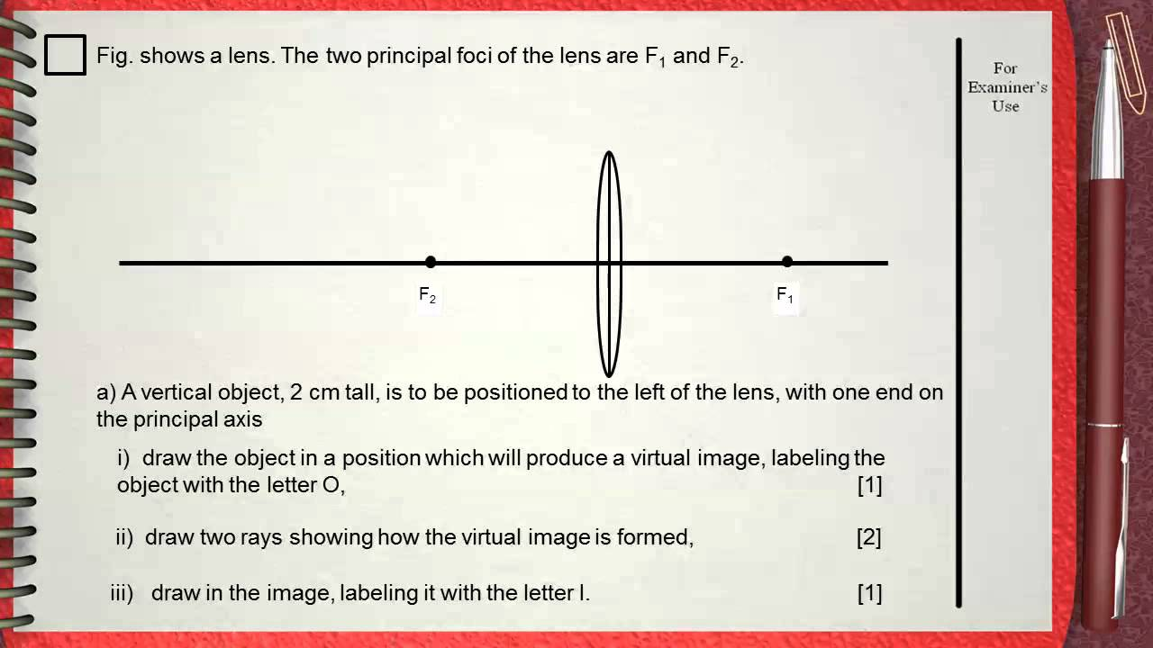 Q 02      L6  Lenses       Ch 5 Waves Igcse Past Papers