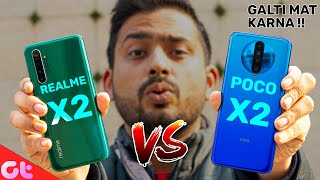 Poco X2 vs Realme X2 Full Comparison | Galti Mat Karna! | GT Hindi