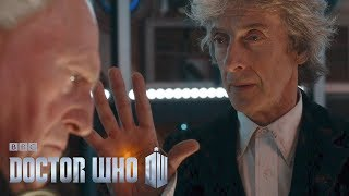 The First Doctor enters the Twelfth Doctor