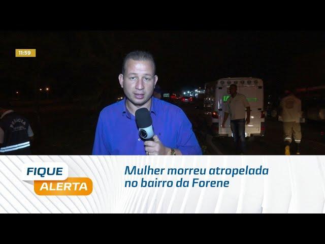 Mulher morreu atropelada na BR-101, no bairro da Forene