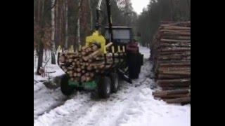 Przyczepa leśna 3 tonowa | Wózek leśny 3 tonowy | Przyczepa 3T