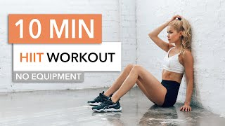 10 MIN HIGH INTENSITY WORKOUT - burn lots of calories, HIIT / No Equipment I Pamela Reif