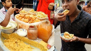 Best Street food Dhaka fuchka Bhelpuri pani puri Golgappa recipe Amazing cutting skills Bengali Food