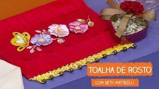 Toalha de Rosto Bordada – Beth Matteelli