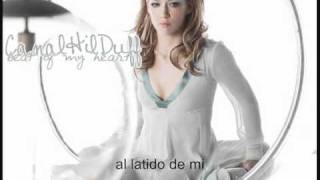 Hilary Duff - beat of my heart (español)