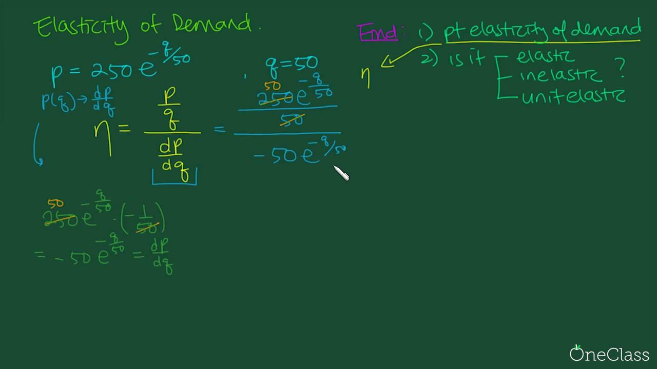 Calculus Elasticity Of Demand Mata32 Past Test Oneclass Youtube