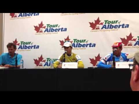 Tour of Alberta Stage 1 press conference