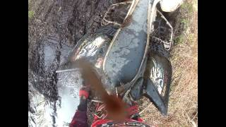 ATV & Dirt Bikes Get Stuck In Mud