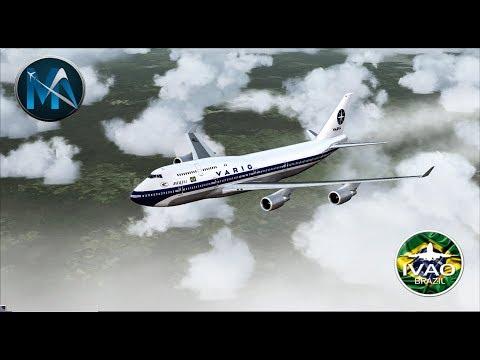 FSX - [REVOADA] VOO DE BELÉM PARA MIAMI (BEL-MIA)BOEING 747 400 (VRG800)