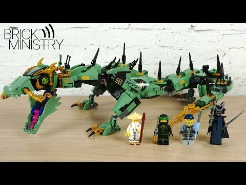 Обзор LEGO 70612 The LEGO Ninjago Movie  Механический Дракон Зелёного Ниндзя