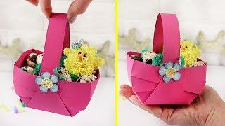 как сделать корзинку из бумаги своими руками легко