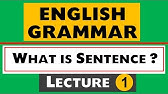 The Sentence - English Grammar Lesson - YouTube