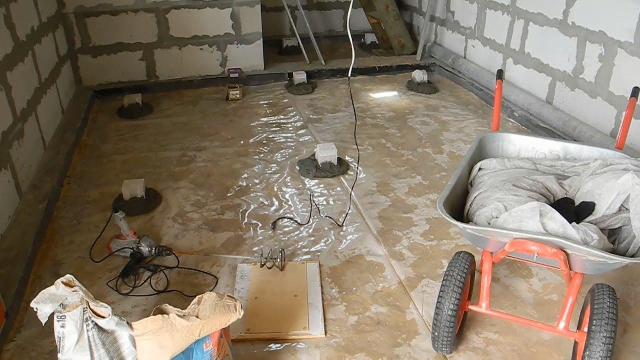 Залитие пола бетоном бетон песок