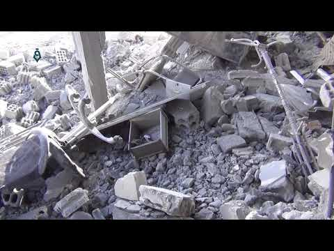 Damascus: Destruction Caused In Beit Sawa Village 28-2-2018