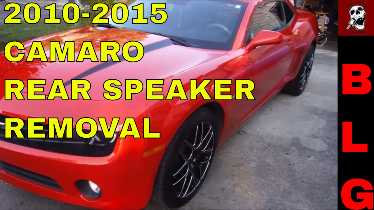T Top Camaro >> 2010-2015 CAMARO REAR SPEAKER REPLACEMENT PART 1 (REMOVAL ...