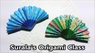Origami - Folding Fan / 종이접기 - 부채
