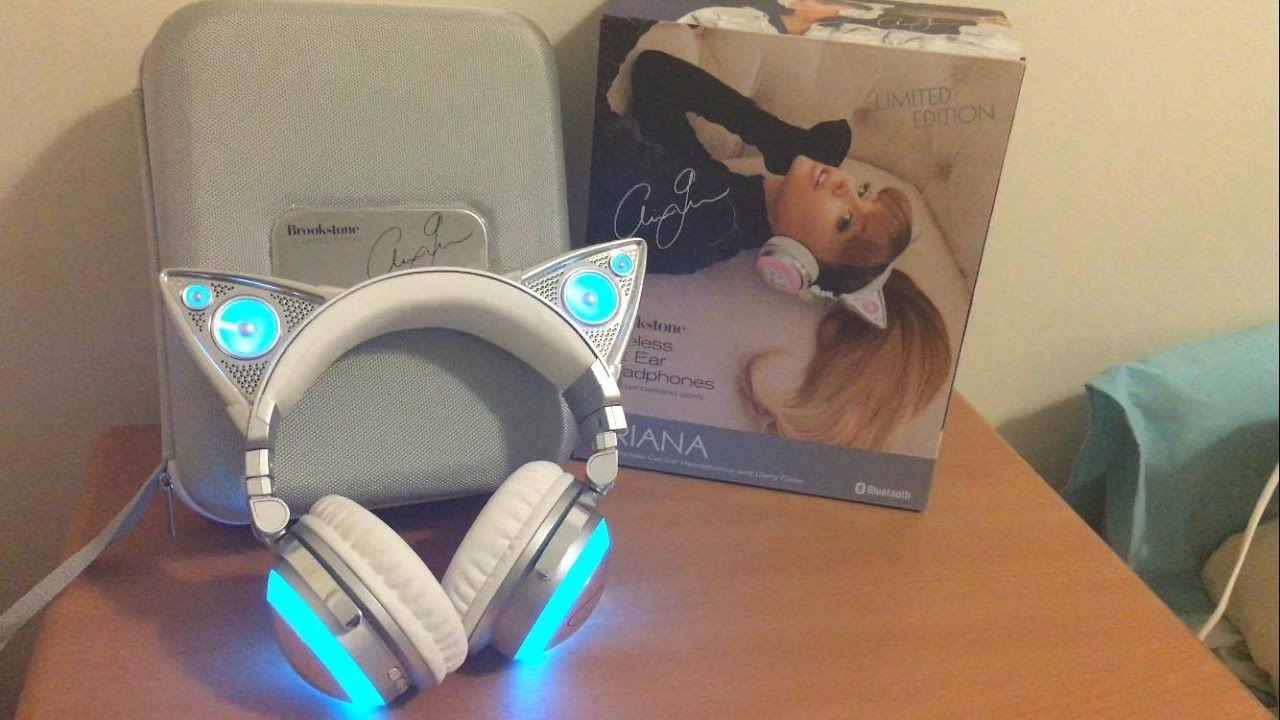 Unboxing Ariana Grande Limited Edition Wireless Cat Ear Headphones Youtube