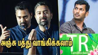 Prasanna Speech About Tamil Rockers   Thiravam web series launch