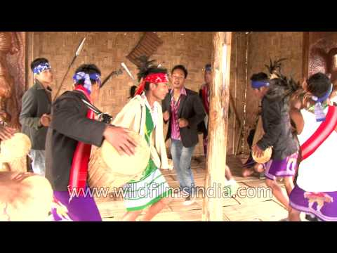 Garo tribes from Meghalaya, India - Dancing with tourists