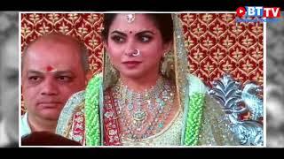 Isha ambani anand pirmal weddings ,ambani gave them blessings