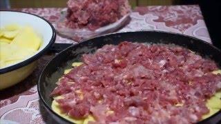Картошка с фаршем в духовке. Смотри видео рецепт(Картошка с фаршем в духовке. Смотри видео, рецепт очень простой, из доступных продуктов. Вот рецепт, смотри..., 2015-11-20T21:16:02.000Z)