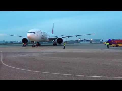 Emirates op Maastricht Aachen Airport
