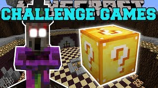 Minecraft WITCH SPIDER CHALLENGE GAMES - Lucky Block Mod - Modded Mini-Game