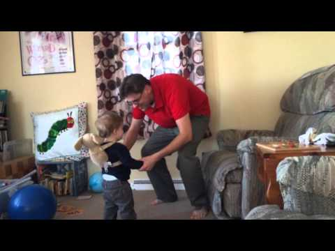 Dancing and jumping with Daddy!