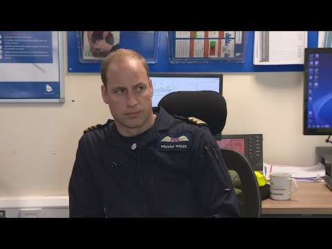 Inside the air ambulance unit on William's last day