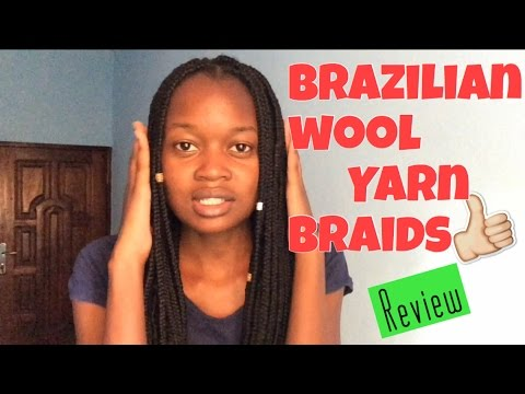 Another hair video| Brazilian wool yarn braids