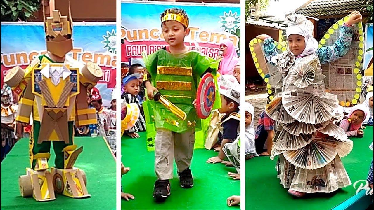 Fashion Show Baju Daur Ulang Saat Pentas Anak TK  Kids