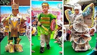 Fashion Show Baju Daur Ulang Saat Pentas Anak TK | Kids Recycled Costumes Fashion Show