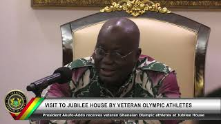 Visit to the President by Veteran Olympic Athletes