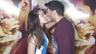 Aditya Roy Kapoor And Shraddha Kapoor Kissing in Public at Ok Jaanu Movie Promotion