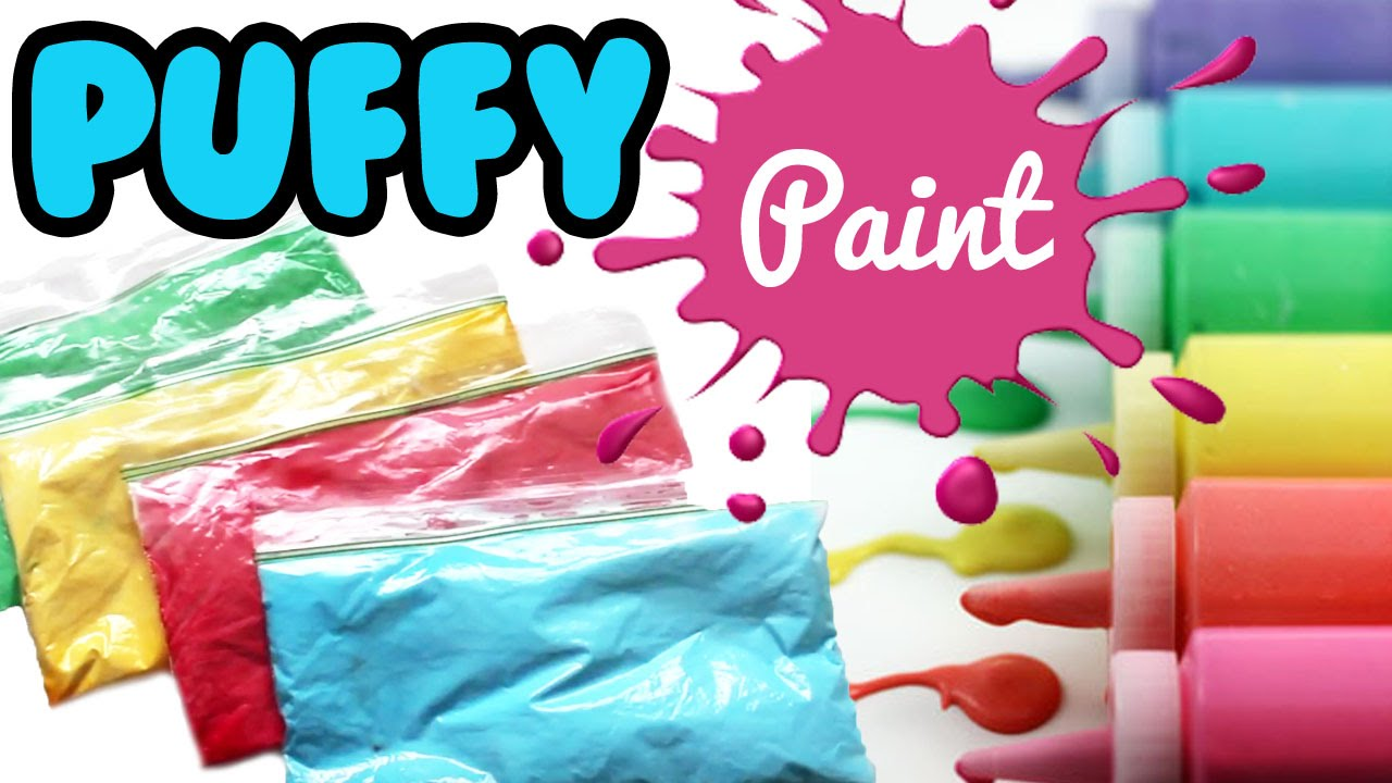 How to Make PUFFY PAINT Tutorial ONLY 3 Ingredients | Toy ...