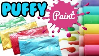 Learn how to make your own puffy foam paint with only 3 ingredients...