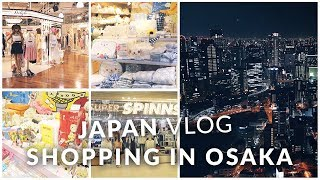Gambar cover Japan Vlog - Osaka shopping in Umeda, Shinsaibashi, Namba