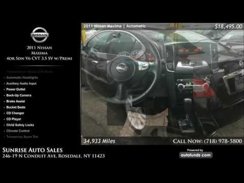 Used 2011 Nissan Maxima | Sunrise Auto Sales, Rosedale, NY