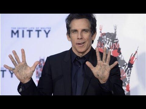 Actor Ben Stiller Set In Hollywood Stone