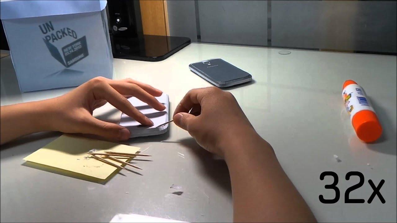 Papercraft Making GALAXY S4 Paper Craft
