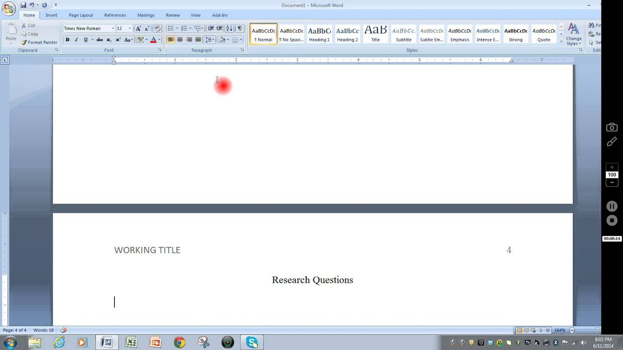 formatting microsoft word for project seminar research paper youtube