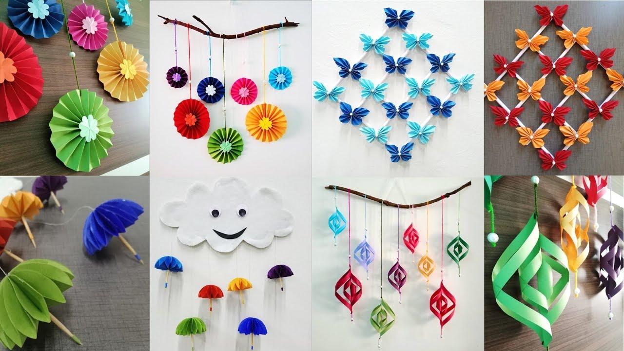 24 Attractive Paper Wall Hanging tutorials - DIY easy wall decoration ideas
