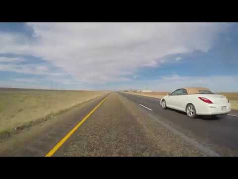 Midland to Lubbock Texas Video Road Tour 4k HD